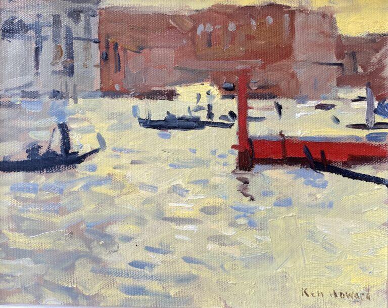 Prof. Ken Howard OBE RA | Dazling Sunlight, Venice | Oil on Board | 8 x 10 inches | £3,600
